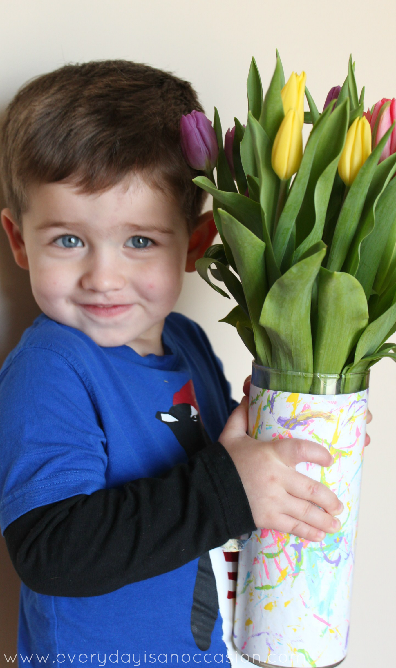 Your Child's Artwork on a Vase by Every Day is an Occasion