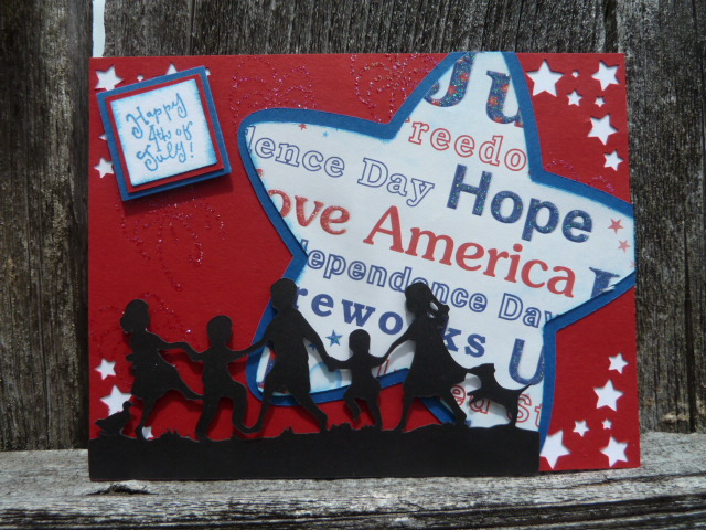 Patriotic Silhouette Card by Designs by Dragonfly