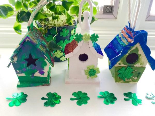 Use Birdhouses to create Leprechaun Traps for St. Patrick's day #stpatricksdaycraft