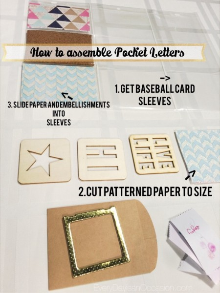 How to assemble Pocket Letters