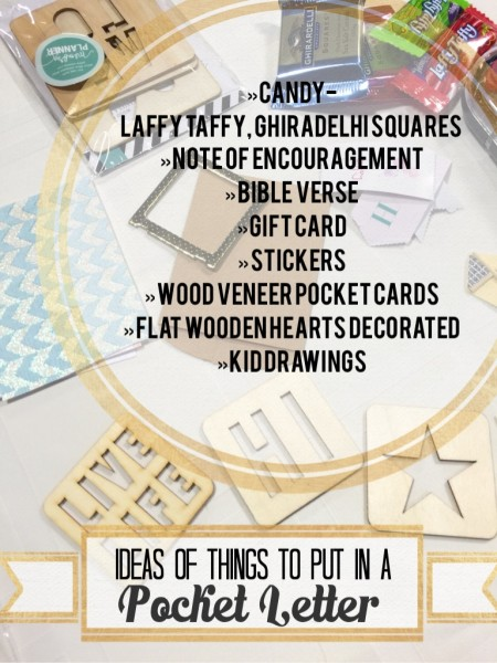 ideas of things to put in a Pocket Letter