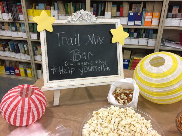 Trail Mix Bar Sign for Staff Appreciation
