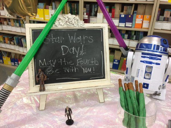 May the fourth be with you teacher appreciation sign