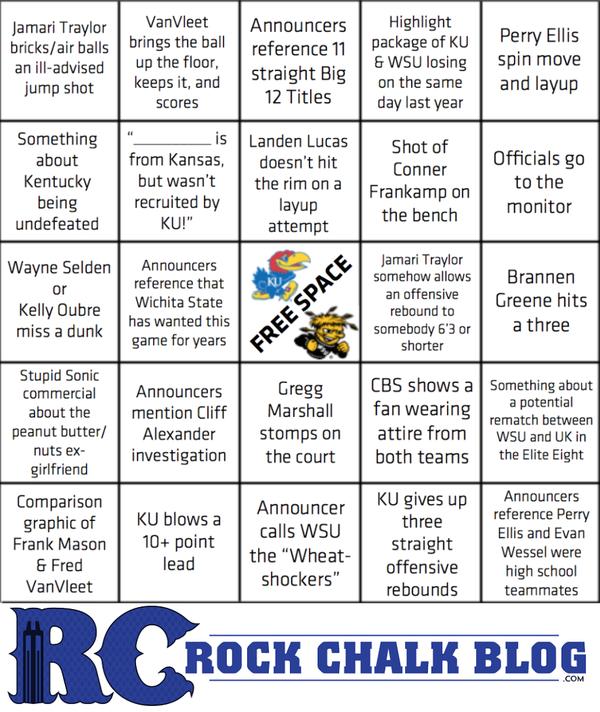 Rock Chalk Blog's KU/WSU bingo.