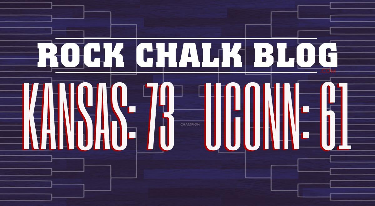 Kansas: 73, UConn: 61