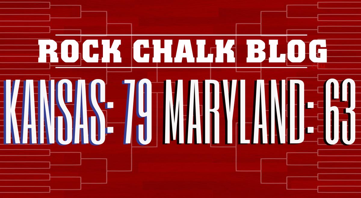 Kansas beats Maryland 79-63 to advance to the Elite EIght.