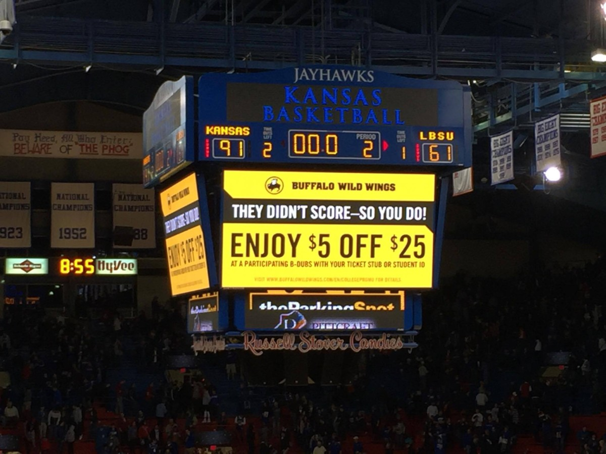 Kansas defeated Long Beach State 91-61 on November 29 in Allen Fieldhouse. Photo by Ryan Landreth.