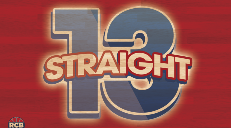 The Kansas Jayhawks have won their 13th consecutive Big 12 Championship. Graphic by Nick Weippert.