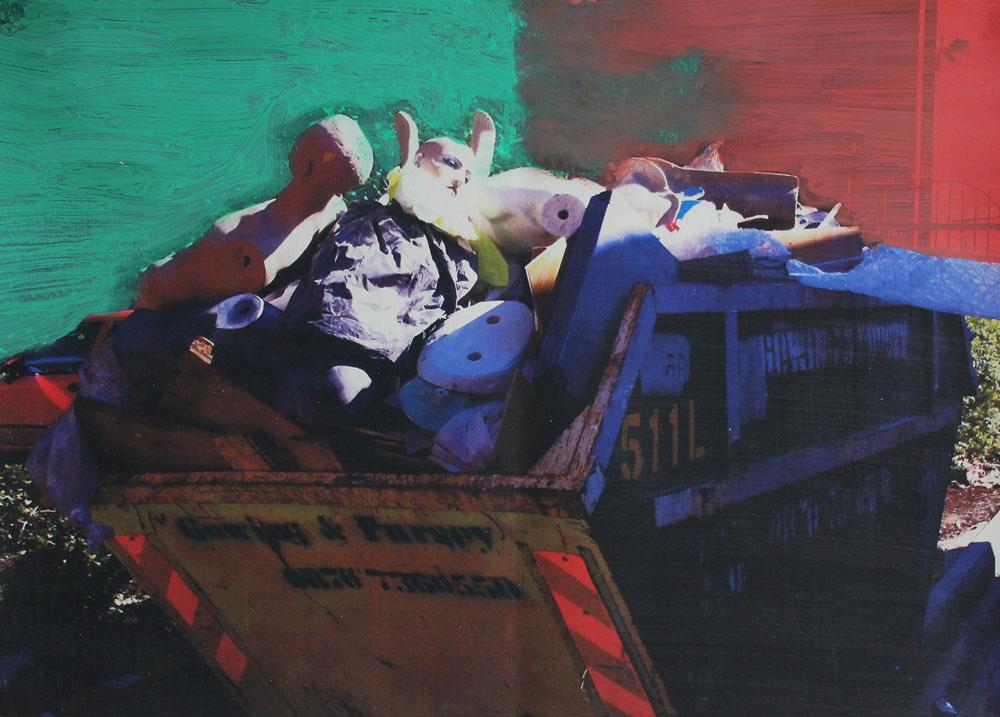 Untitled, Oil on inkjet print, 21 x 29 cm, 2016