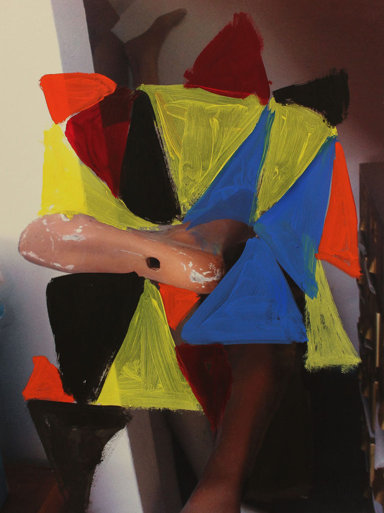 Untitled, Oil on inkjet print, 29 x 21 cm, 2017