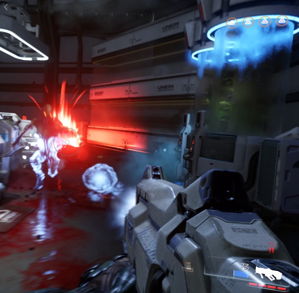 Doom gun shooting