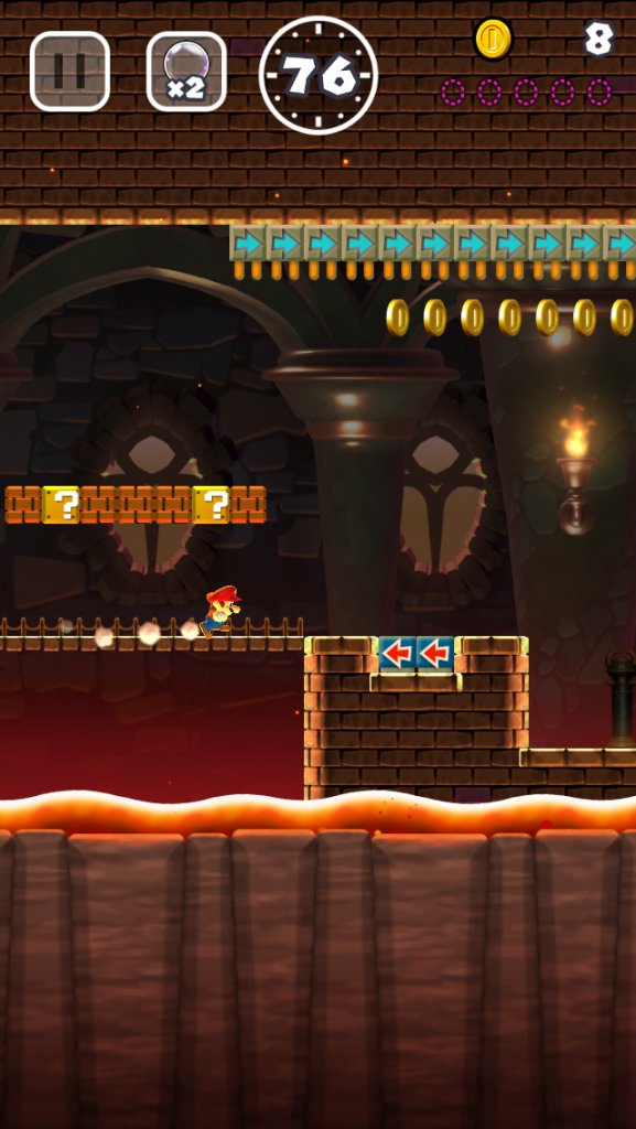 Bowser's dungeon in super mario run