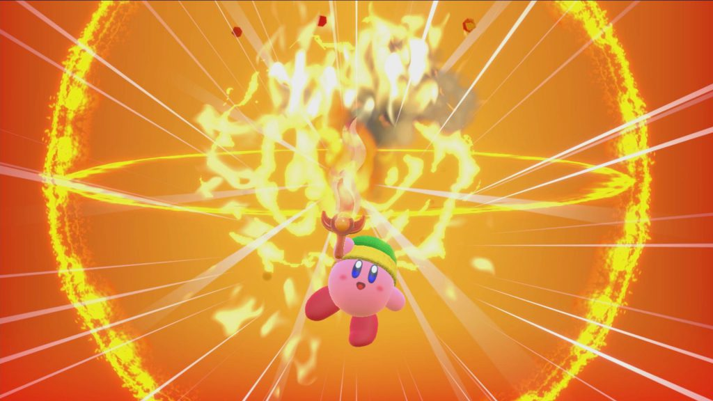 Kirby Star Allies fire sword, kirby star allies special powers, kirby star allies let's play on youtube, kirby star allies videos, gigamax games with kirby star allies