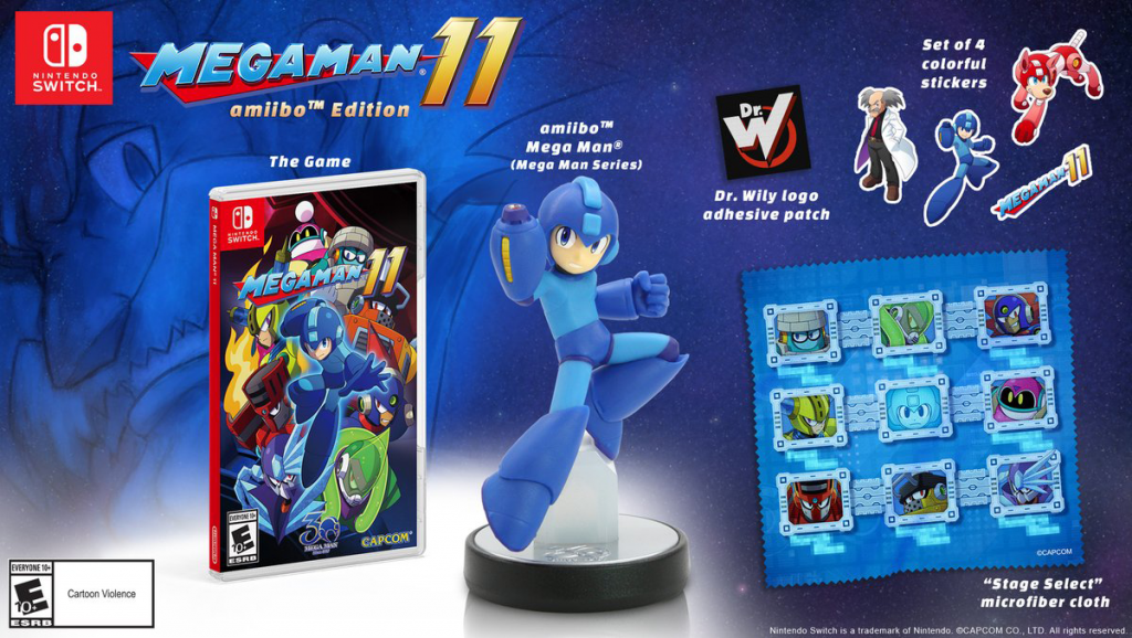 Mega Man 11, Mega Man, mega man amiibo, amiibo, new releases, new games, latest games, capcom, capcom mega man, gigamax news, gigamax games, gigamax gaming news, video game news, gaming news,