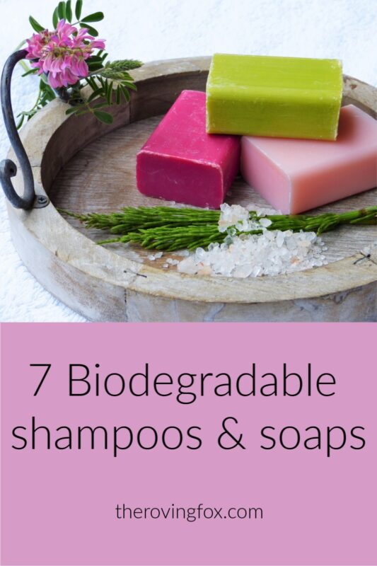 Biodegradable shampoo and biodegradable soap brands