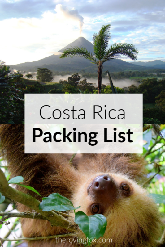 Costa Rica Packing List. What to bring to Costa Rica