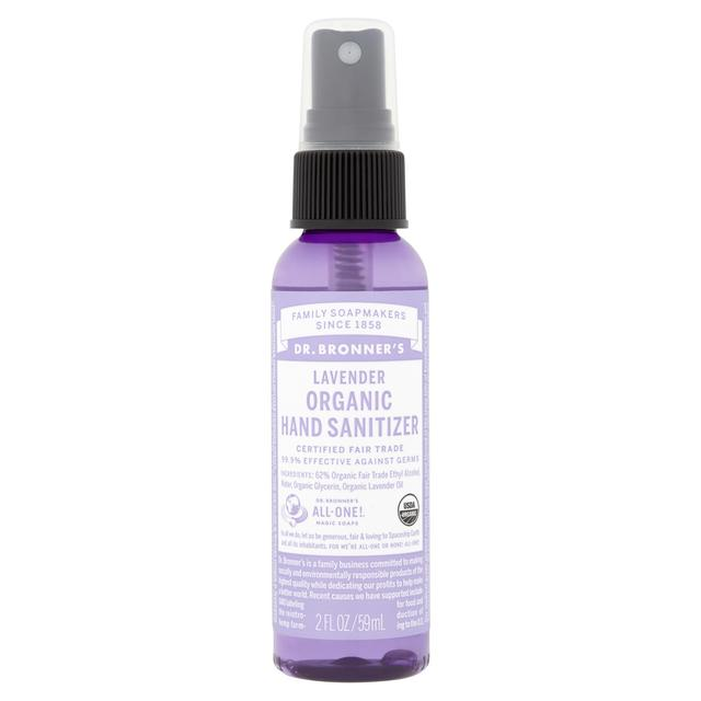 Health and Beauty Travel Kit Essentials Dr. Bronner's Hand Sanitizer