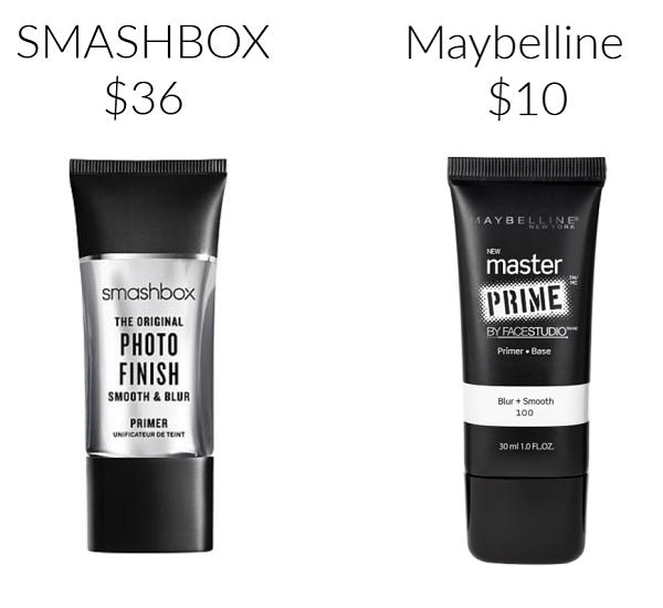 Smashbox Maybelline primer drugstore makeup dupes