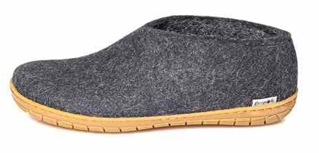 Glerups shoe rubber sole wool slippers