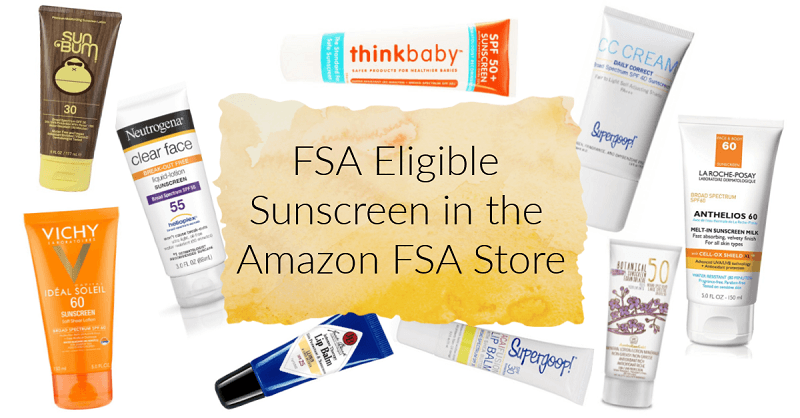 FSA Eligible Sunscreen in the Amazon FSA Store