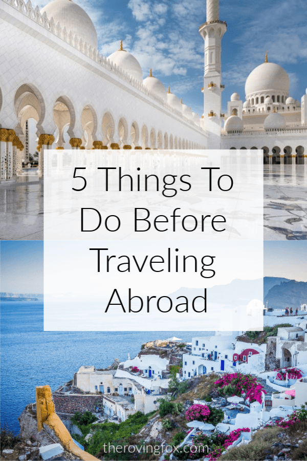 Trip checklist and vacation checklist. 5 important things to do before traveling and Europe travel checklist