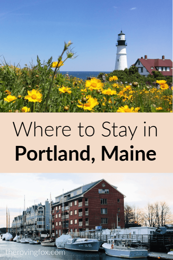 Where to stay in Portland Maine including hotels in South Portland Maine and bed and breakfast accomodation