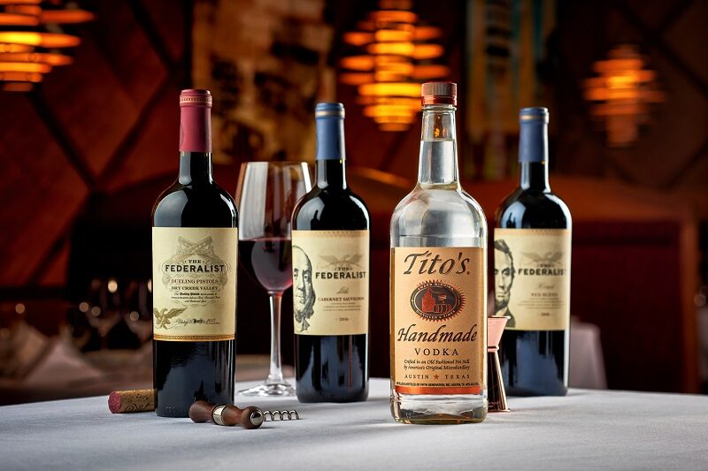 Ruth's Chris Steak House TasteMaker Dinner - pairings by The Federalist Wines and Titos Handmade Vodka