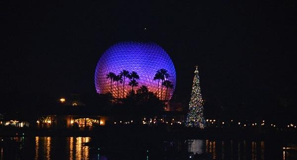 Epcot Disney World at Christmas