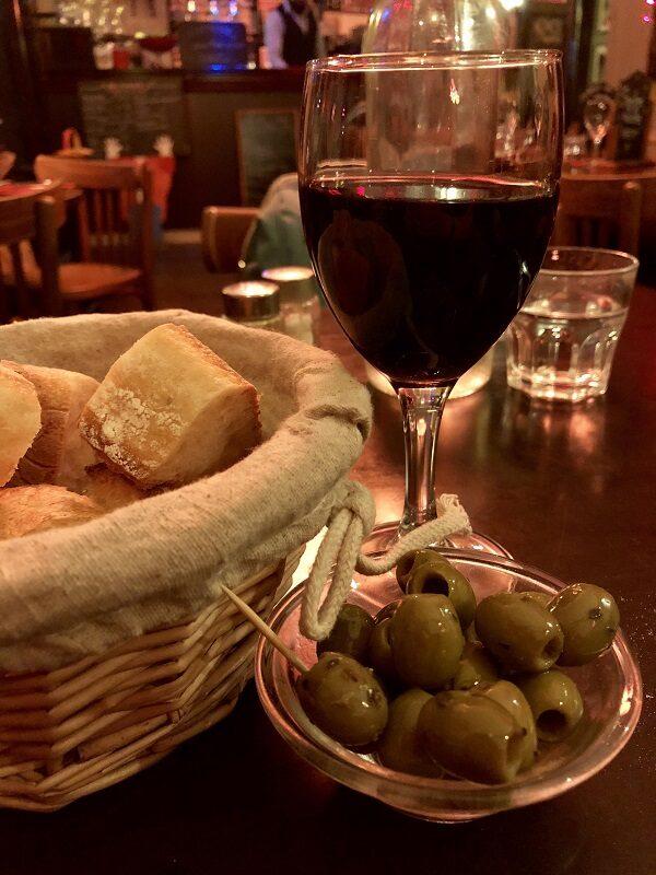 Wine and dinner in Paris