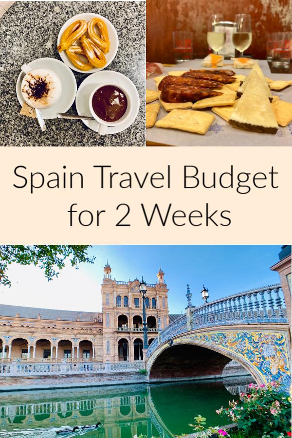 Trip to Spain Cost. Spain travel budget. 2 Weeks in Spain Pinterest