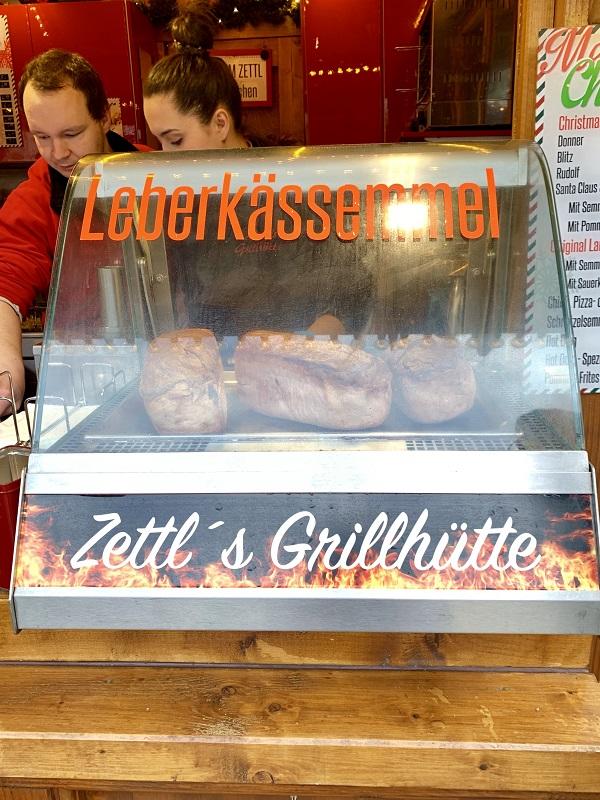 Leberkase sausage sandwich Munich