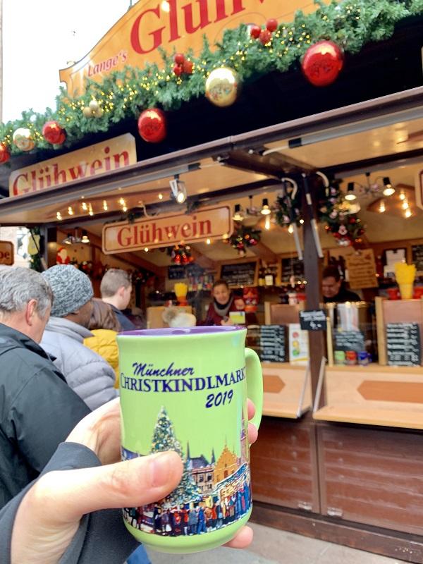 Munich Christmas Market Gluhwein mulled wine