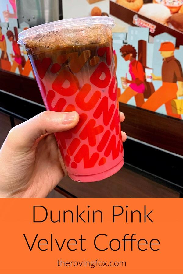 Dunkin Pink Velvet Coffee Flavor