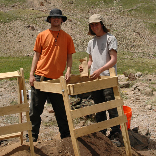 Volunteers screening at Uncompahgre Cirque