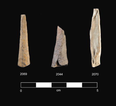 Metal tinklers associated with one of the camp sites.
