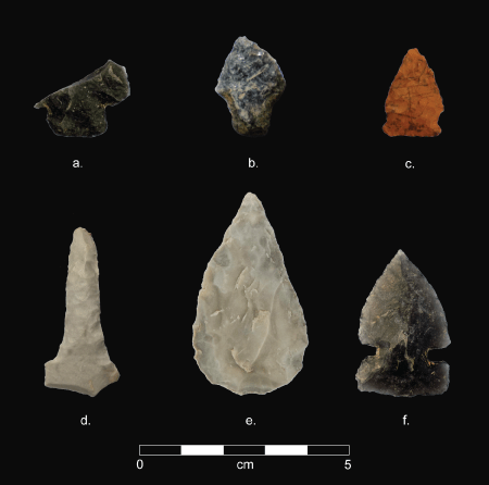 Sample of stone tools documented during the project.