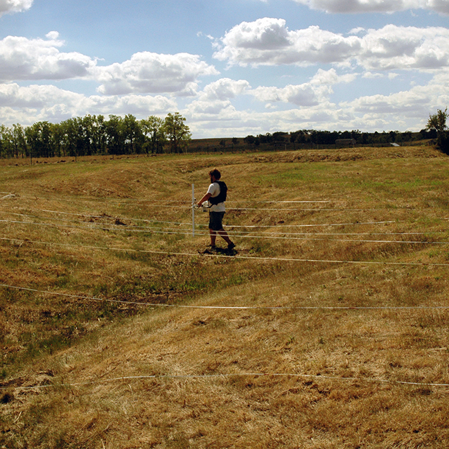 Geophysics over the ditch.