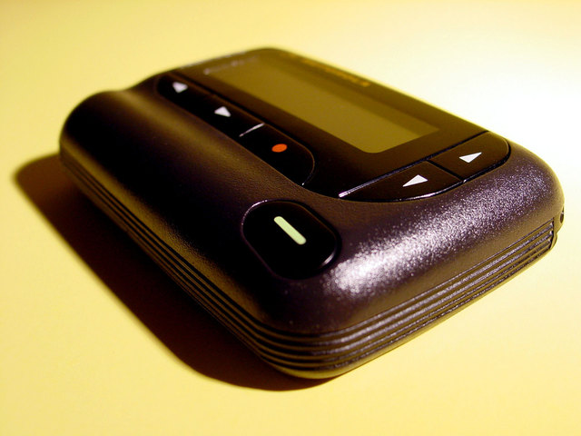 Black pager device