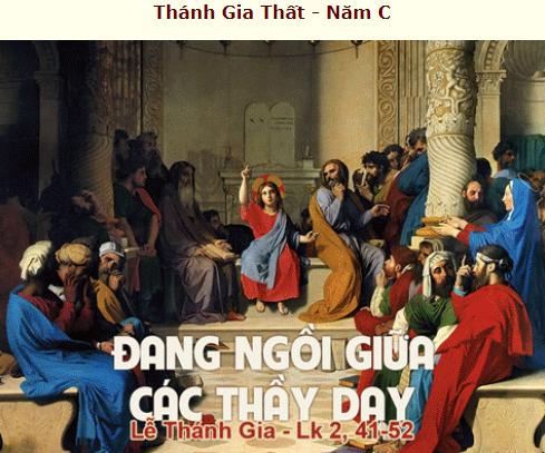 Suy Niệm - Lễ Thánh Gia Thất - December 30, 2018 - năm C