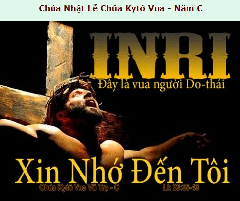 Suy Niệm - CN 34 Thường Niên -  Nov. 20, năm C