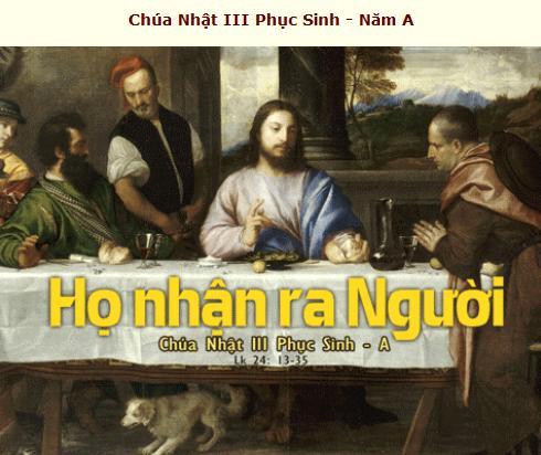 Suy Niệm - Chúa Nhật 3 Phục Sinh - April 26 - Năm A - Online Mass