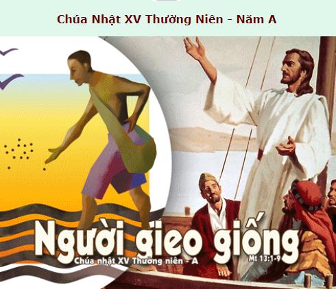 Suy Niệm - Chúa Nhật 15 Thường Niên - July 12 - Năm A & Daily Mass Thánh Lễ Online