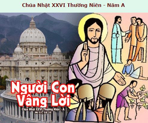 Suy Niệm - Chúa Nhật 26 Thường Niên - September 27 - Năm A - Daily Mass Thánh Lễ Online Video