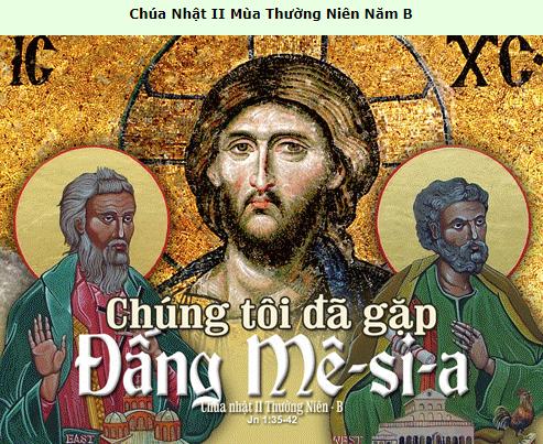 Suy Niệm - Chúa Nhật 2 Thường Niên - January 17 - Năm B - Daily Mass Thánh Lễ Online