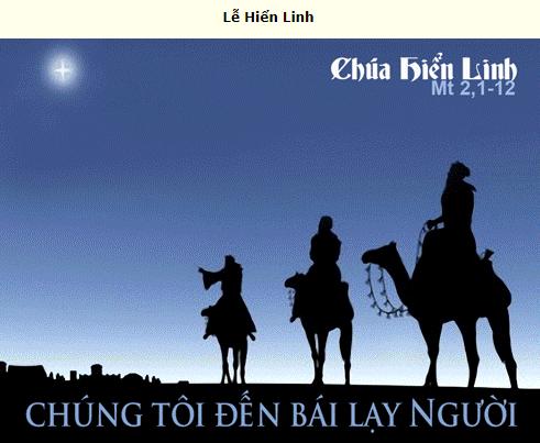 Suy Niệm - Chúa Nhật - Lễ Chúa Hiển Linh - January 3 - Năm B - Daily Mass Thánh Lễ Online