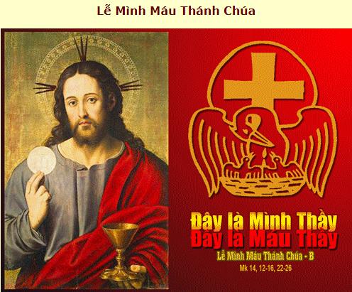 Suy Niệm - Chúa Nhật Kính Mình Máu Thánh Chúa - June 03 - Năm B