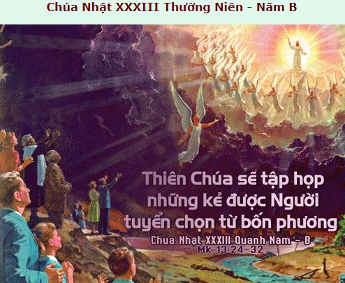 Suy Niệm - Chúa Nhật 33 Thường Niên - November 18 - Năm B