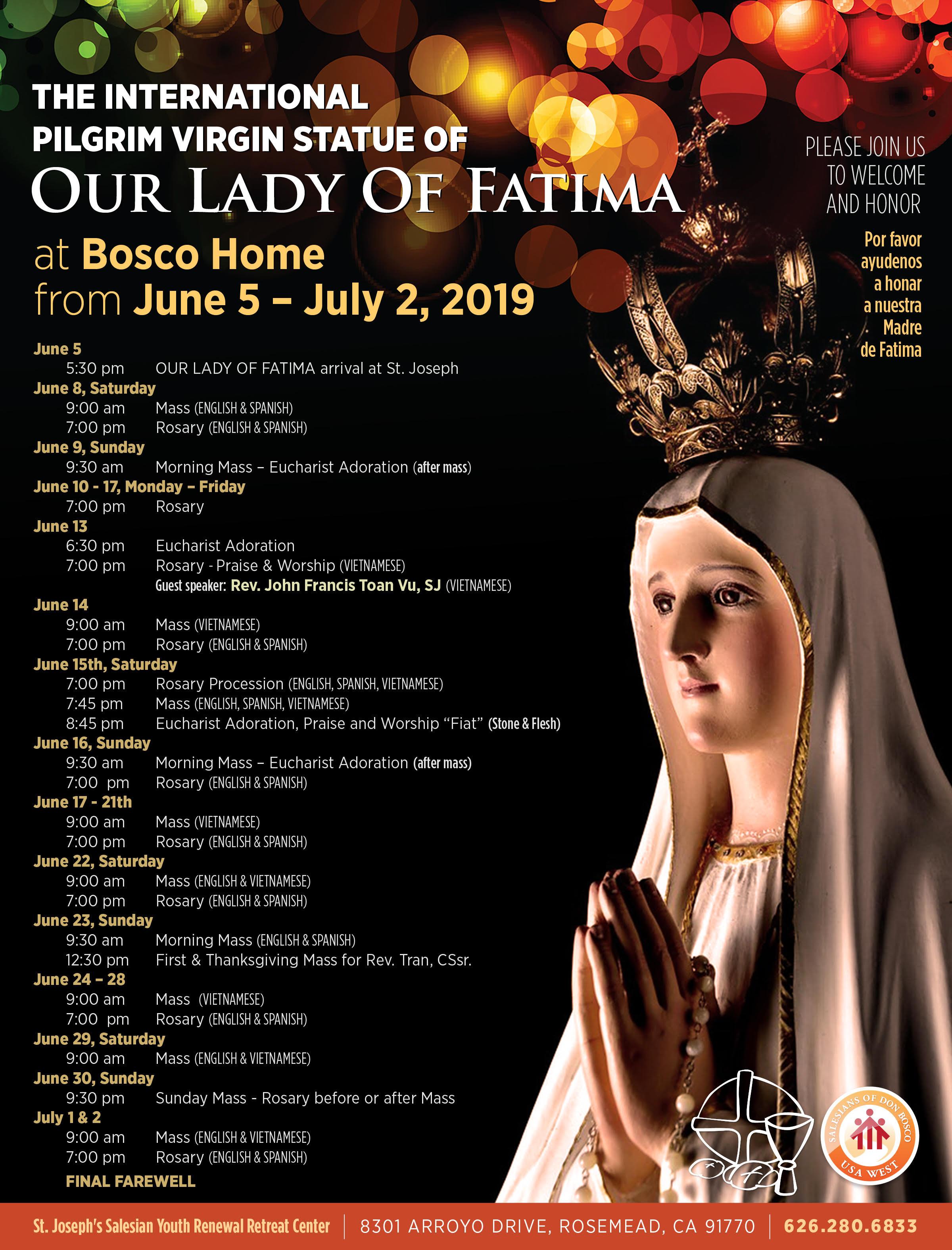 Đức Mẹ Fatima Thánh Du