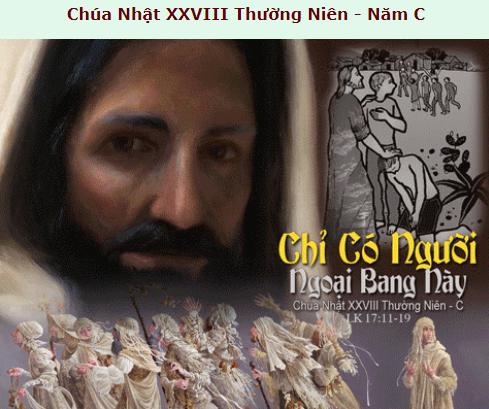 Suy Niệm - Chúa Nhật 28 Thường Niên - October 13 - Năm C