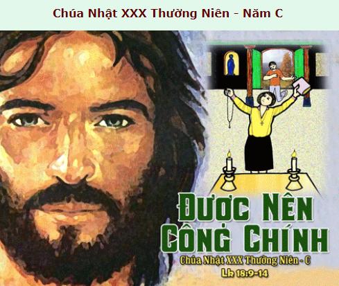 Suy Niệm - Chúa Nhật 30 Thường Niên - October 27 - Năm C